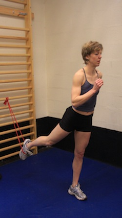 theraband hip flexor exercise