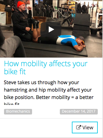how mobility affects your bike position
