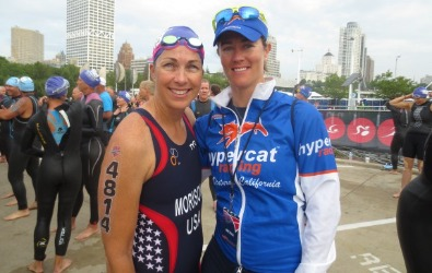 Athlete Elaine and Coach Rachel at USAT Nationals