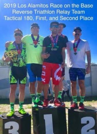 Race on the Base Triathlon Relay Podium Winning Team