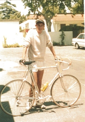 Young Philip and his bike