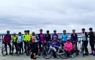 Womens on Wheels Group near Pier
