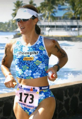 Rachel racing at Ironman Hawaii